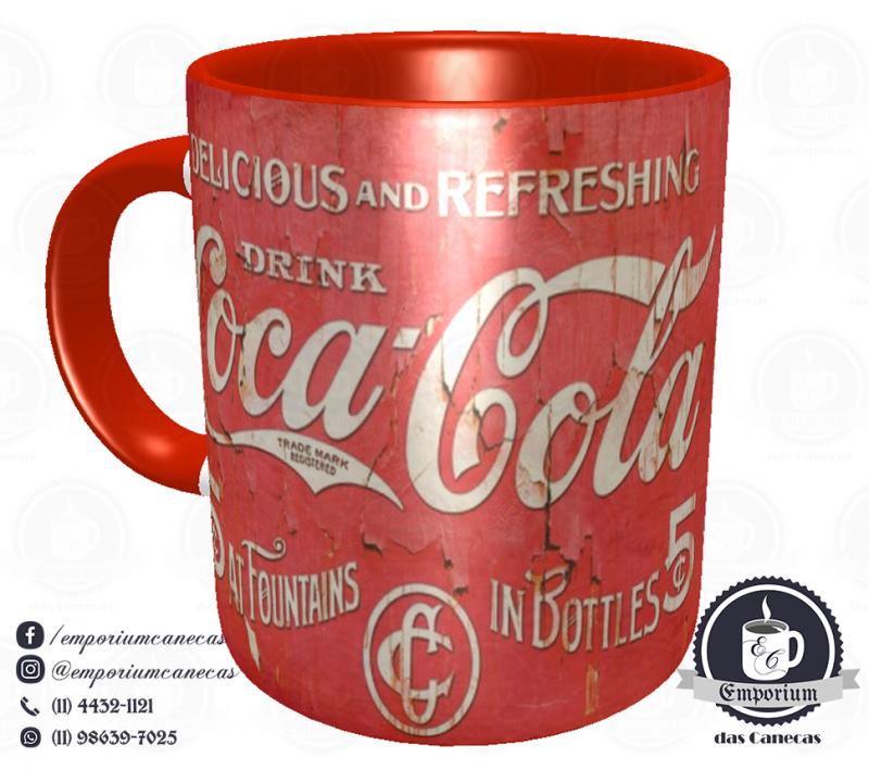 Caneca Vintage - Marcas Inesquecíveis - Coca-Cola - Porcelana 325 ml