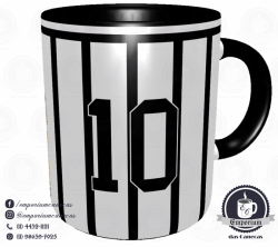 Caneca Corinthians - Camisa 1971 Rivellino - Porcelana 325 ml 3