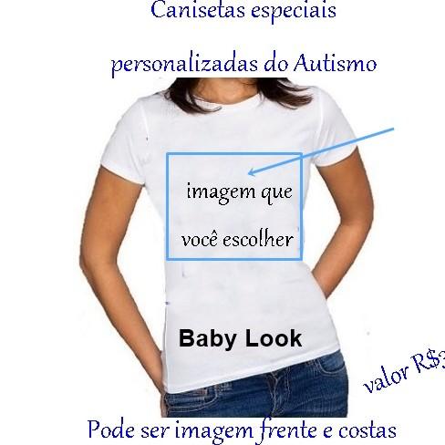 4fbf3f2e2 ... Camisetas Personalizadas do Autismo cor branca 3 ...