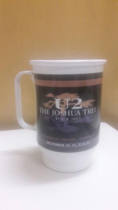 Caneca de Chopp U2 - The Joshua Tree Tour 2017 - Alumínio Branco 600ml