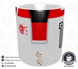 Caneca Flamengo - Camisa 1981 Campeão Mundial de Clubes - Porcelana 325 ml 2