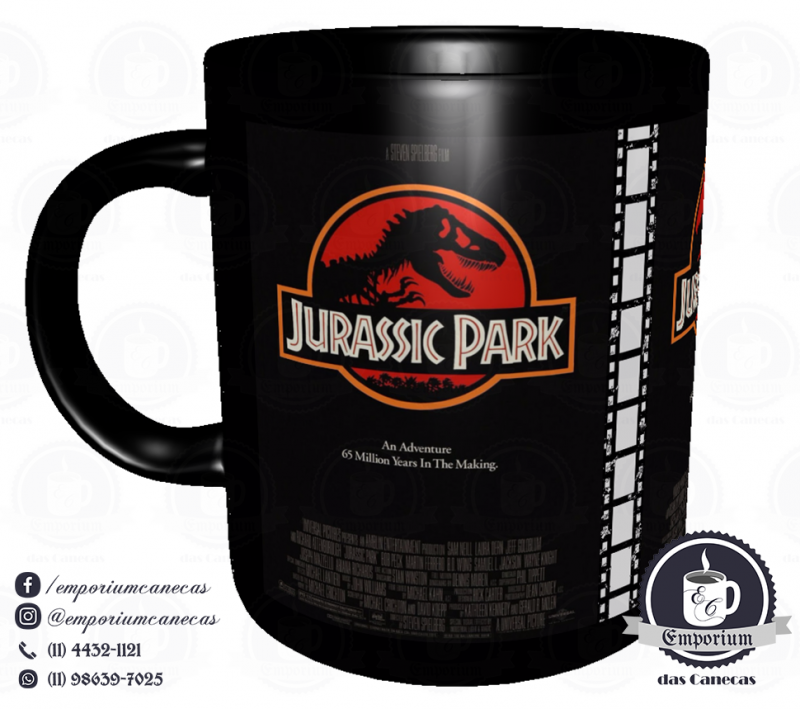 Caneca Clássicos do Cinema - Jurassic Park - Porcelana 325 ml
