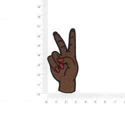 Patch Mão Paz e Amor 7