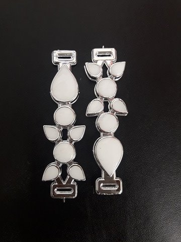 Gota ABS Prata/Branco