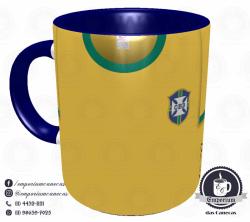 Caneca Seleção Brasileira - Camisa 1970 (Tricampeão Mundial) - Porcelana 325 ml 1