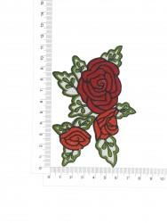 Patch Rosas Bordado no Tecido 3D 4