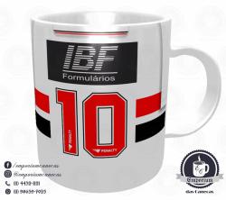 Caneca São Paulo FC - Camisa 1992/93 Bi-Libertadores Branca - Porcelana 325 ml 3