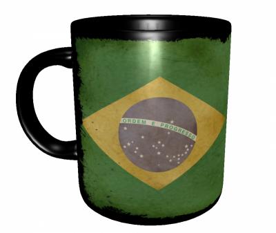 Caneca Brasil - Grunge