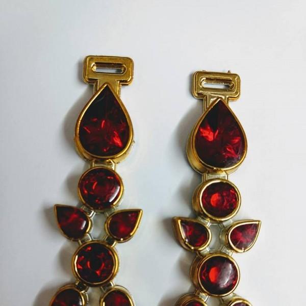 Gota  ABS Dourado/Vermelho