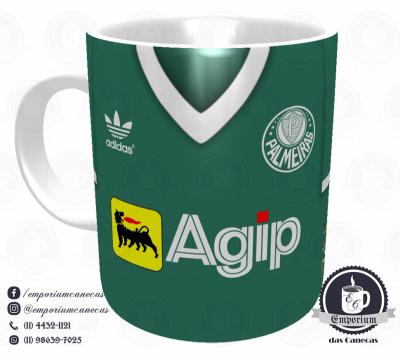 Caneca Palmeiras - Camisa 1988 - Porcelana 325 ml
