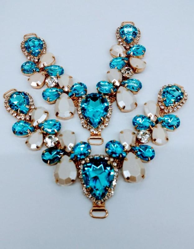 Cabedal Layka Perolado Azul