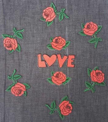 Kit 9 peças - Rosas e Love
