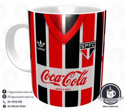 Caneca São Paulo FC - Camisa 1989 Listrada - Porcelana 325 ml