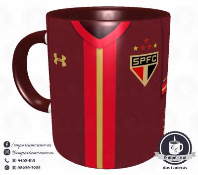 Caneca São Paulo FC - Camisa 2015 Bordô - Porcelana 325 ml