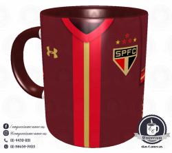 Caneca São Paulo FC - Camisa 2015 Bordô - Porcelana 325 ml 1