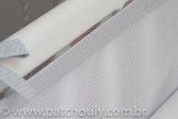 Tela de Berço Cinza com poá branco 1