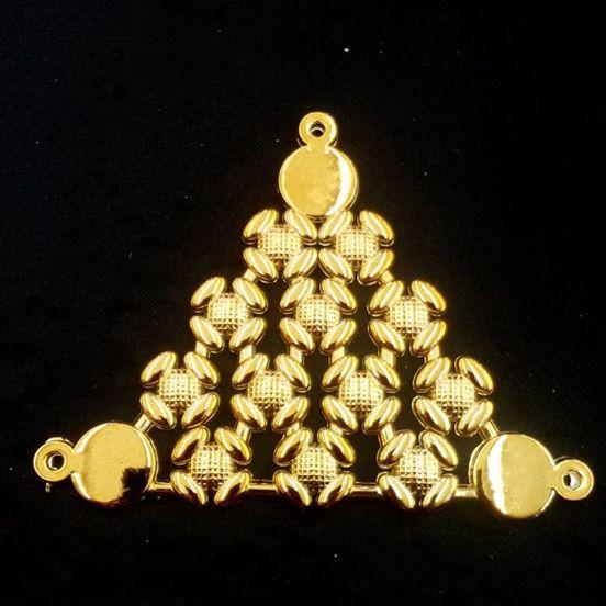 Triangulo Multiflores Dourado ABS 047