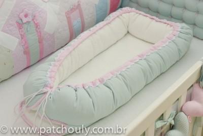 Ninho para Bebê Malva e Rosa