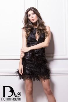 Vestido Penas PRETO 2