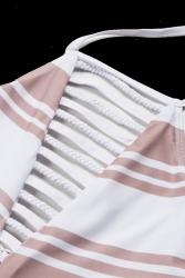 Biquini top soutien listrado nude e branco 3