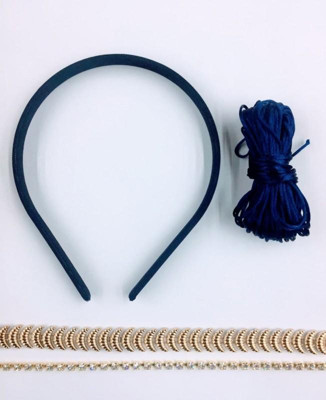 Kit Tiara Azul Marinho
