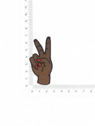 Patch Mão Paz e Amor 5