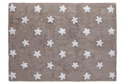 Tapete cinza escuro com estrelas brancas modelo C-L-SW