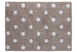 Tapete cinza escuro com estrelas brancas modelo C-L-SW 1