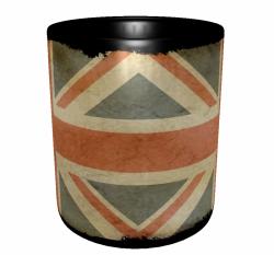Caneca Reino Unido - Grunge 2