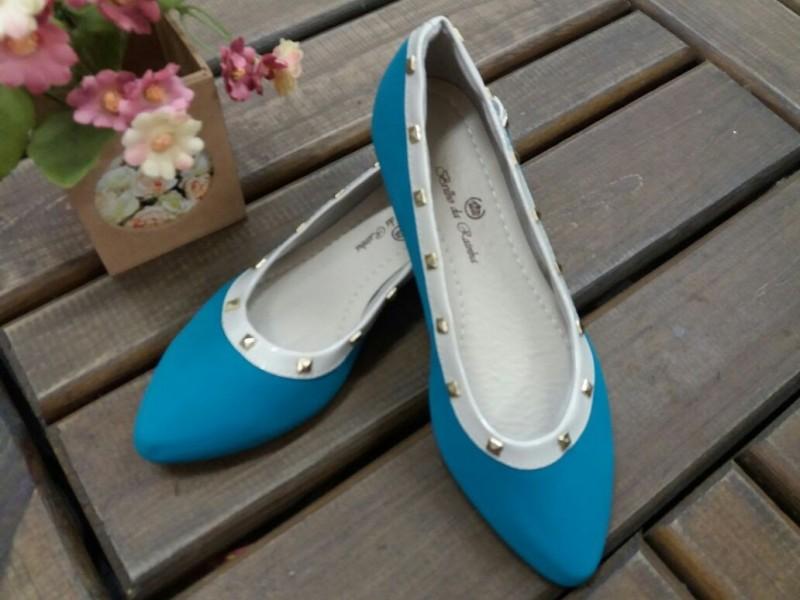 cb806978ef3 Sapatilha Bico Fino Azul Spikes