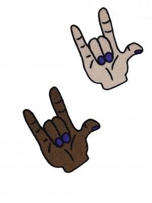 Patch Mão do Rock