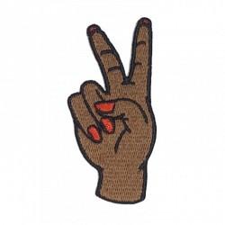 Patch Mão Paz e Amor 1