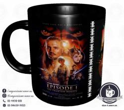 Caneca Clássicos do Cinema - Star Wars (Trilogia Prequela) - Porcelana 325 ml 1