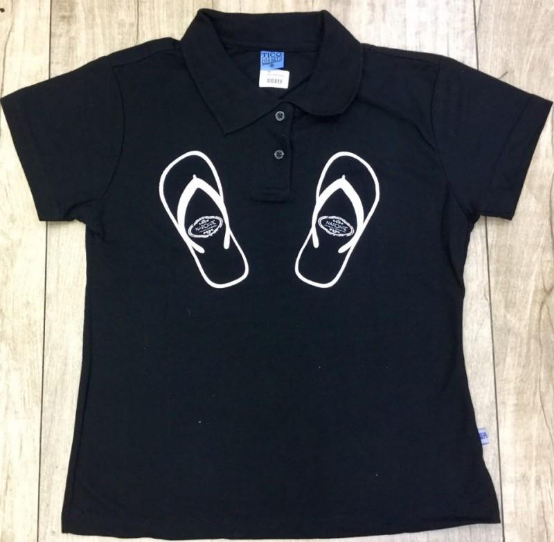 Camiseta Polo Preta EXG