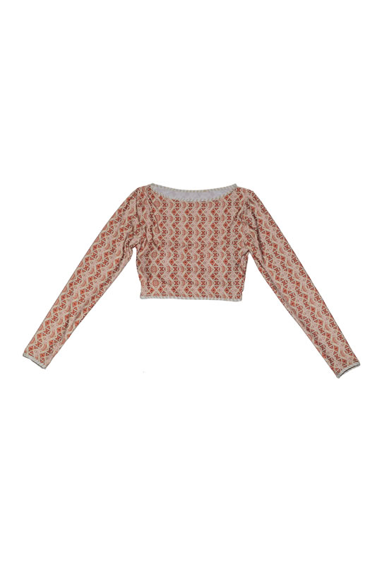 BIQUINI TOP CROPPED TRIBAL NUDE