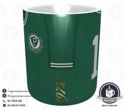 Caneca Palmeiras - Camisa 1972 Ademir da Guia - Porcelana 325 ml 2