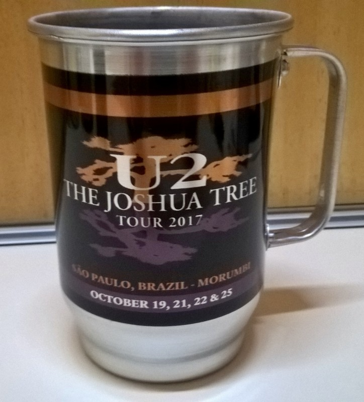 Caneca de Chopp U2 - The Joshua Tree Tour 2017 - Alumínio 600ml