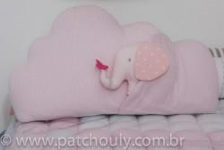 Almofada Nuvem com Elefante Rosa 1