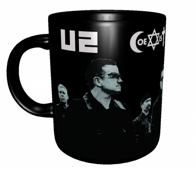 Caneca Bandas Clássicas - U2 (Coexist) - Porcelana 325 ml