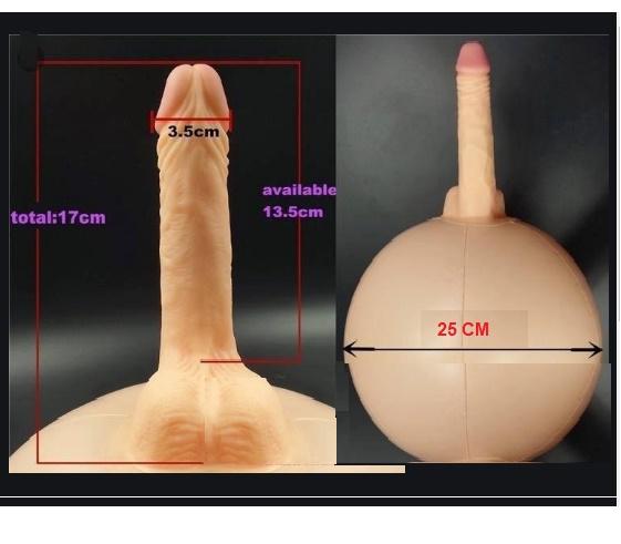 Dildo realístico com suporte inflável