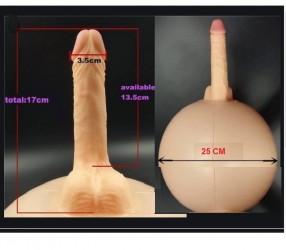 Dildo realístico com suporte inflável 1
