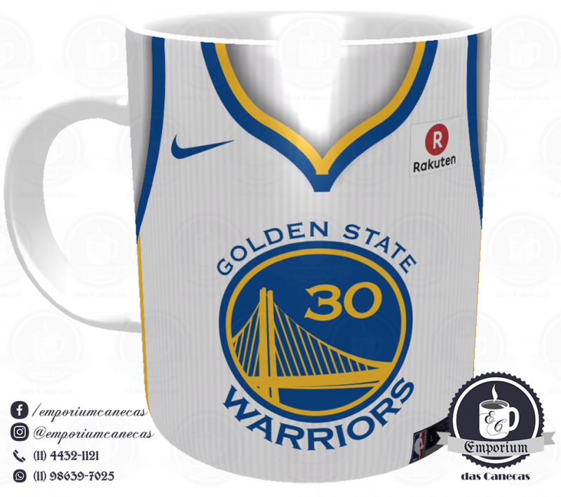Caneca Golden State Warriors - Camisa 2018 Home - Porcelana 325 ml