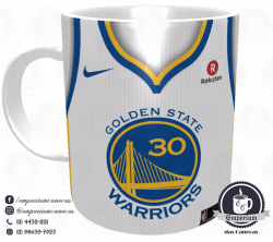 Caneca Golden State Warriors - Camisa 2018 Home - Porcelana 325 ml 1