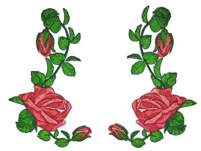 Kit 2 Patchs Espelhados De Rosas