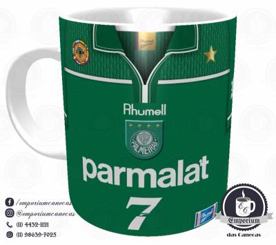 Caneca Palmeiras - Camisa 1999 Libertadores - Porcelana 325 ml