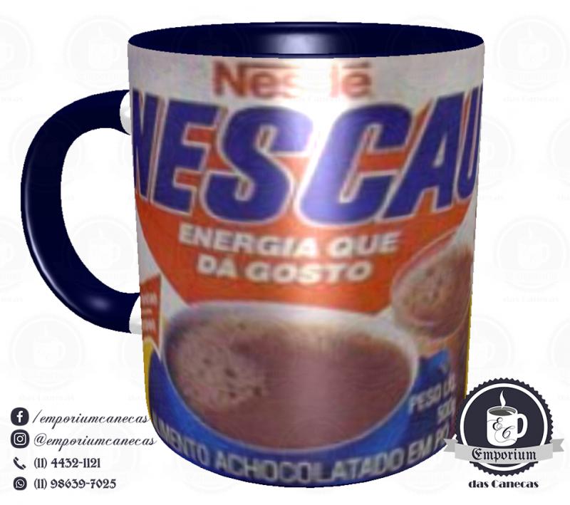 Caneca Vintage - Marcas Inesquecíveis - Nescau (anos 80) - Porcelana 325 ml