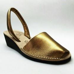 Anabela Couro Ouro 2