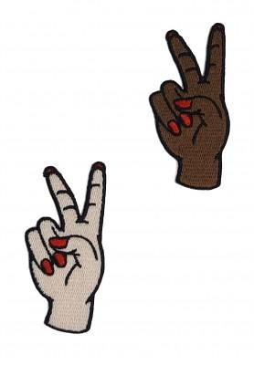 Patch Mão Paz e Amor