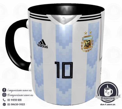 Caneca Argentina - Camisa Copa do Mundo 2018 - Porcelana 325 ml