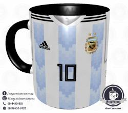 Caneca Argentina - Camisa Copa do Mundo 2018 - Porcelana 325 ml 1